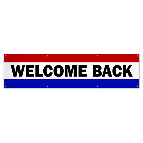 Welcome some one back with a classic style patriotic banner, perfect for welcoming home troops size 8x2