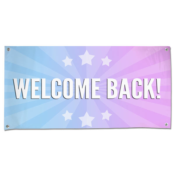 Bright and festive, our welcome back banner is perfect for any homecoming party or celebration!