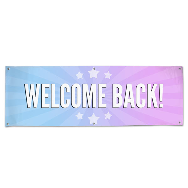 Celebrate the arrival of someone you care about with a welcome back banner perfect for parties and decorations size 6x2
