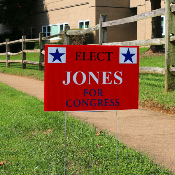Create your own election sign with Winkflash yard signs