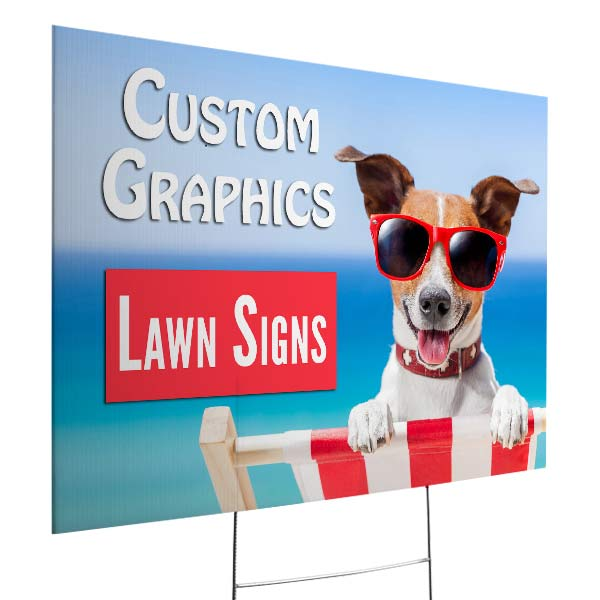 Create a custom yard sign for your small business or event