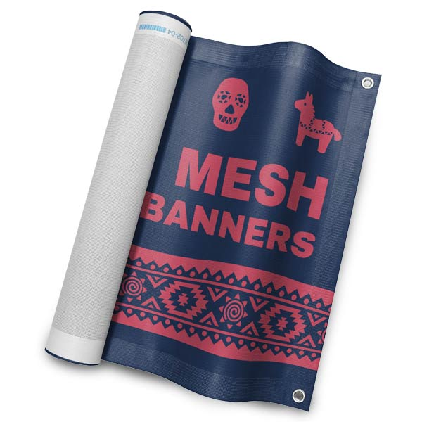 Create a custom mesh banner for your business or school event