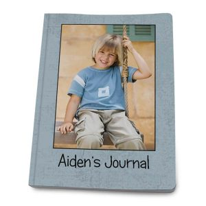Add your own picture and custom text to create a paperback journal for any use