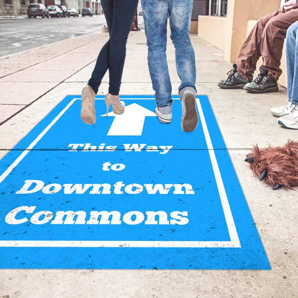 Advertise in a unique way with contour floor graphics that stick almost anywhere