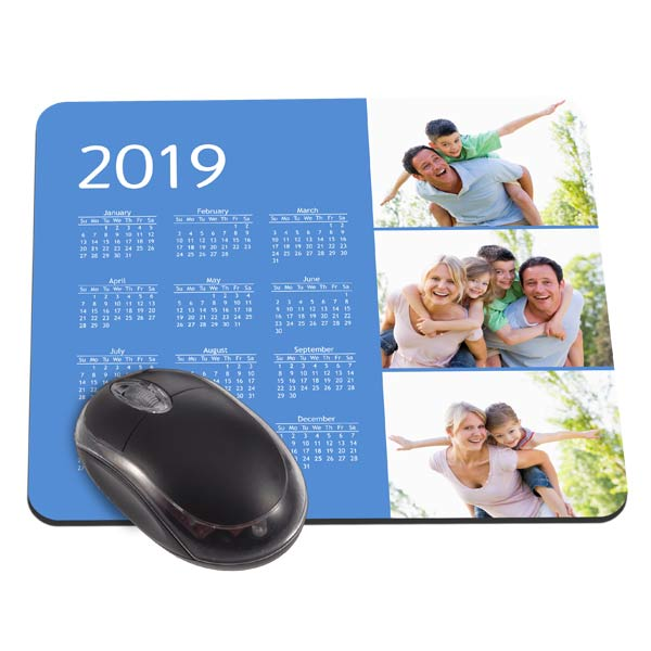 Add your own photos and create a mouse pad for your desk with a calendar