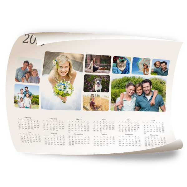 create a 12x18 calendar poster with many styles to choose from including photo collage