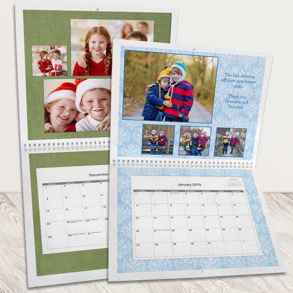 Create your own Calendar with Winkflash custom 2019 Photo Calendars