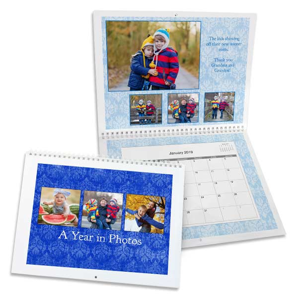 Our personalized wall calendar is sure to brighten your home or office with your best photos.