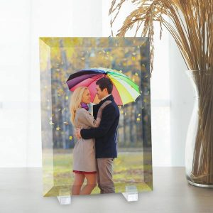 Add color to your home with photo decor items, pictures printed on glass