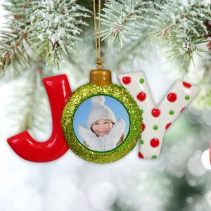 Create a custom photo ornament for the Holiday with Glitter