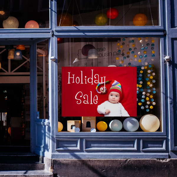 Advertise for your business with custom static cling window clings for your shop