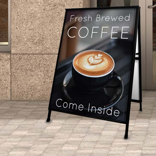 Advertise for your business with custom A frame side walk signs