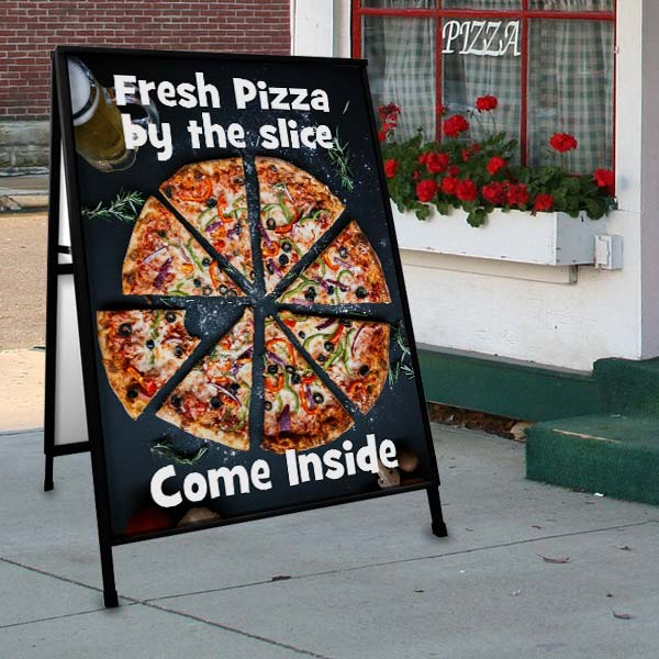 Create a custom sidewalk sign for your business and gain foot traffic