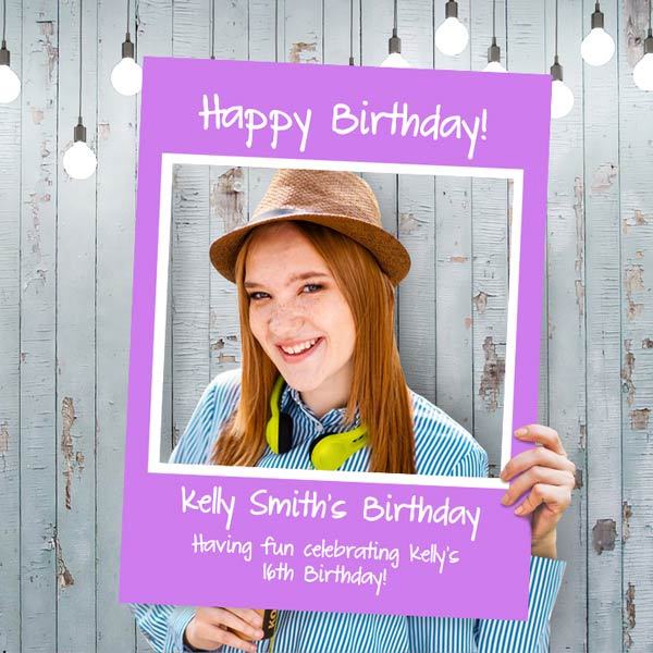 Great for birthdays and weddings, selfie frames are perfect for posting photos online
