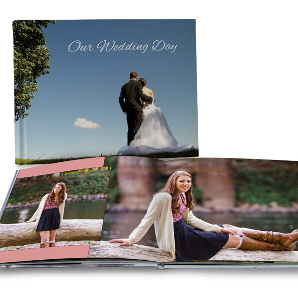 Personalize your own large scale coffee table book with quality lay flat pages