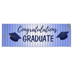 Blue themed graduation banner for your Graduating senior