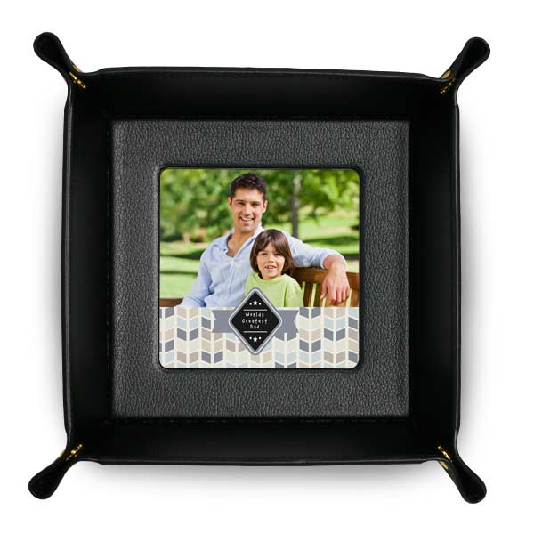 Trays are perfect for your small items and can be personalized with photos
