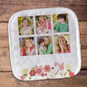 We offer multiple photo design options for your personalized pot holder