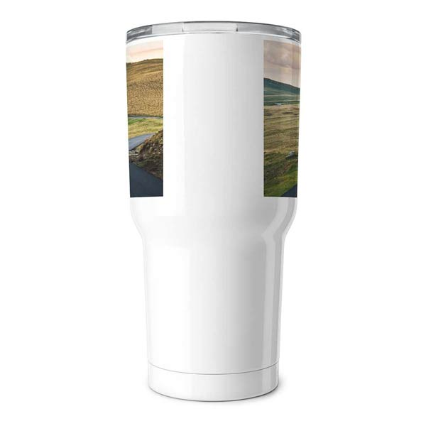 Add photos and custom text to your own 30oz insulated travel tumbler from Winkflash.