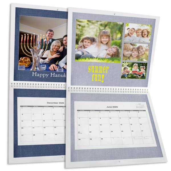 Create your own large wall calendar with photos from through out the year