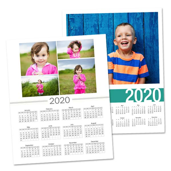 Single Page Photo Calendar Custom