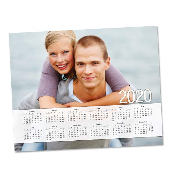 Create a photo collage calendar to keep at your desk for 2020