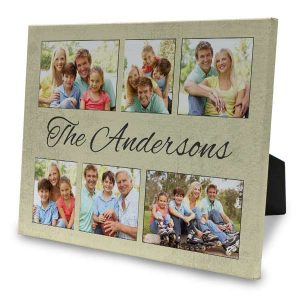 Create a beautiful photo collage of your favorite images on an easel back canvas.
