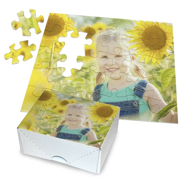 Create a puzzle for a fun and personal gift, each puzzle includes a photo guide