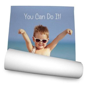 Create your own Yoga Mat with pictures and text and shine in Yoga Class