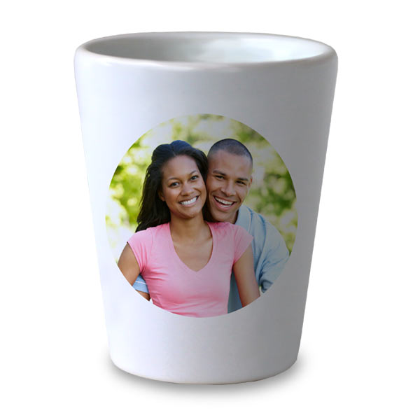 Personalize your own shot glass with many available templates for use