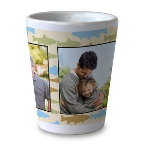 Create your own custom shot glass with photos, great gift for dad