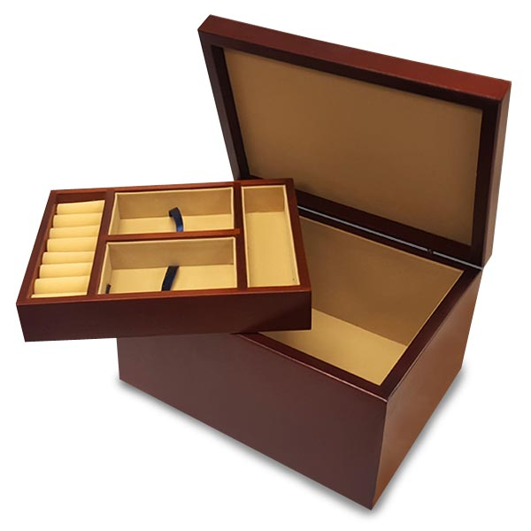 Create a custom jewelry box for mom with included divider tray