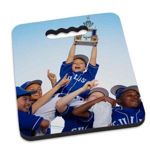Be the best parents at the game with a custom seat cushion you can show off.