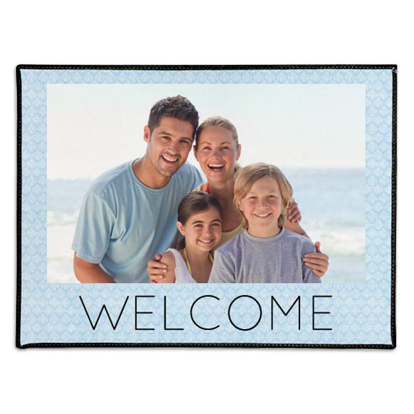 Add photos and text and create your own welcome door mat