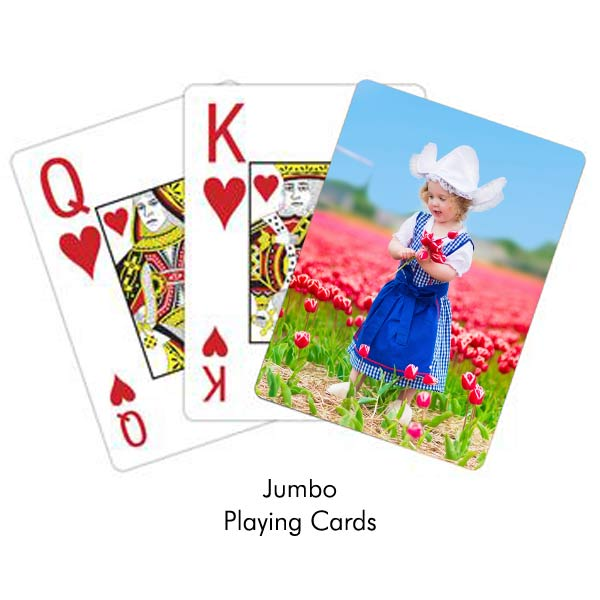 Jumbo print and easy to read playing cards perfect for grandma and grandpa