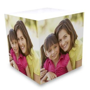 Turn your favorite photo into a sticky note cube with a photo printed on all sides