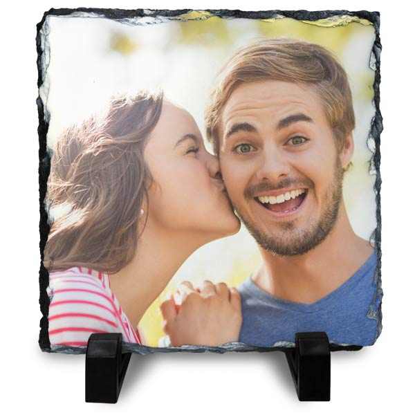Print your picture on real stone with photo slate prints.