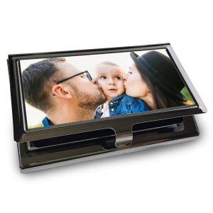 Perfect for dad, create a custom business card case to carry his cards