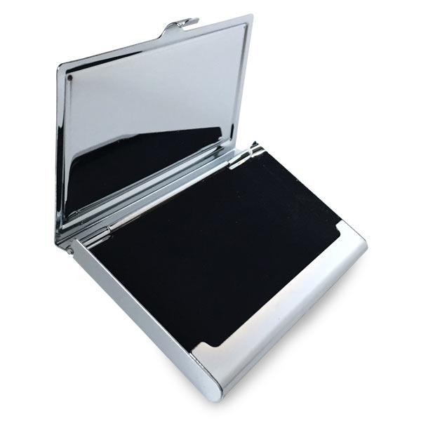 Each photo business card case has a velvet like lining