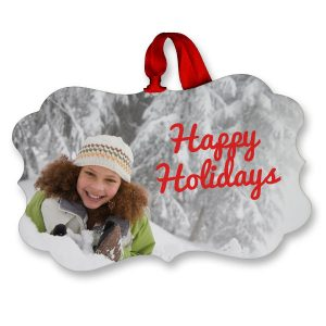 Create your own beautiful photo ornaments with fancy rectangle glossy ornaments