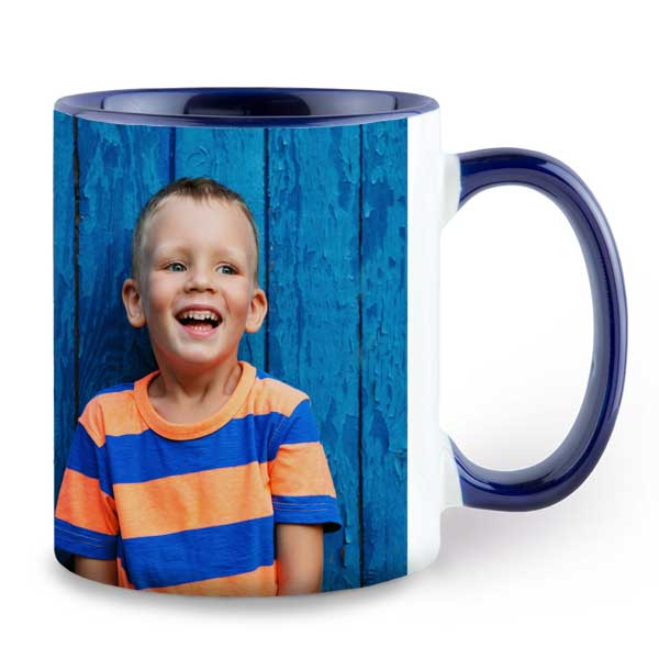 Color accent mugs have a beautiful color added to the center and handle