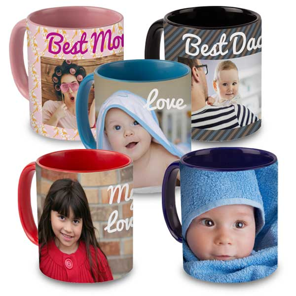 Create a mug with color and flare with our color accent mugs you can express your mood