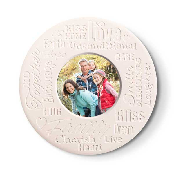 Round stone coasters with inspirational text make a great gift for anyone
