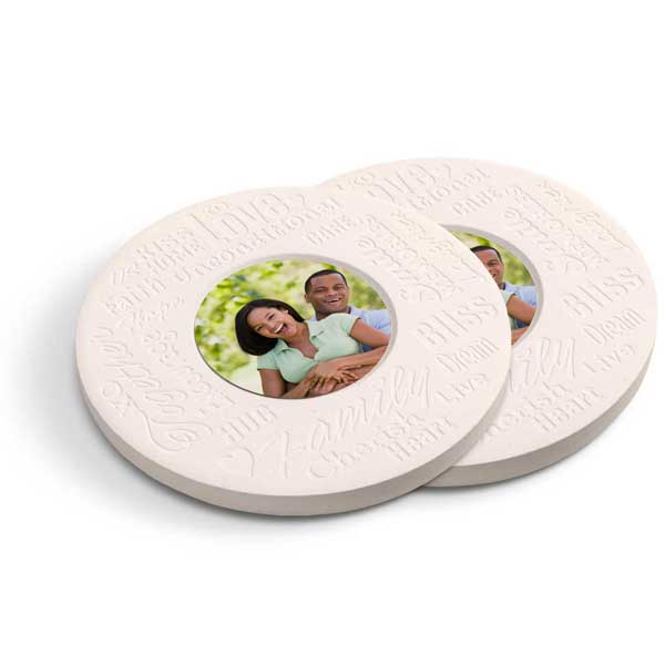 Create stone photo coasters with inspirational quotes for your home