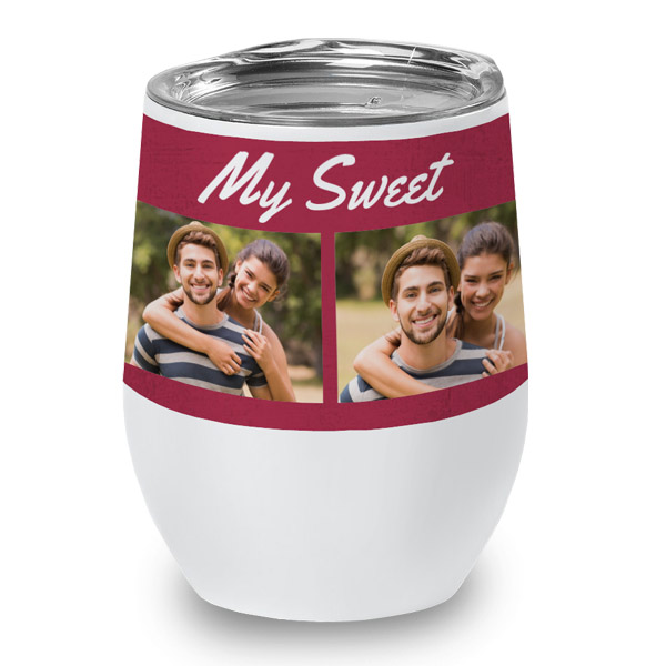 Create your own wine cup with photos and custom text