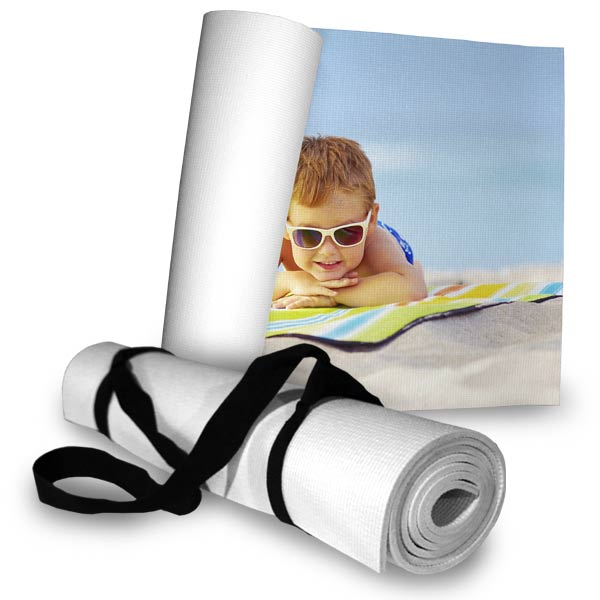 Easily roll and go with your own personalized beach mat, add your own photo