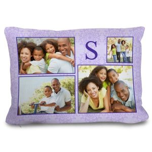Personalize your own decor couch pillow with a photo collage of love