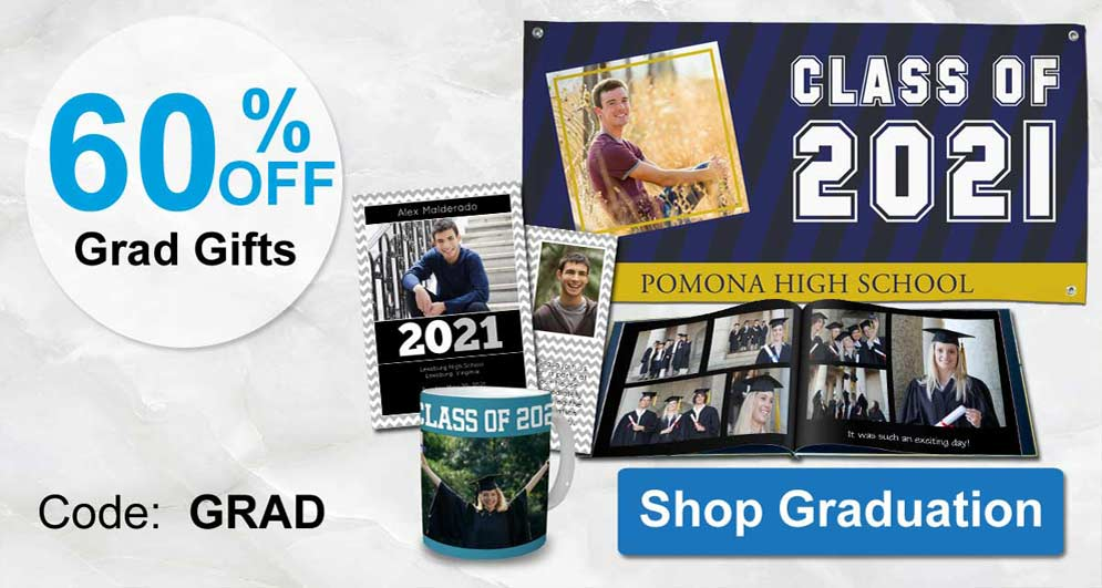 Create custom gifts for your graduate with personalized 2021 designs