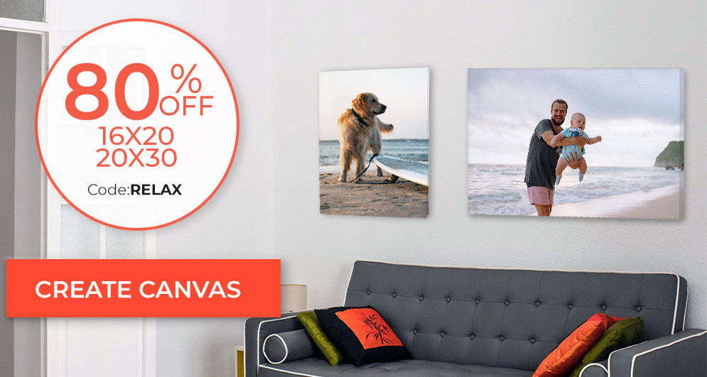 Save on custom printed canvas and print your pictures on canvas