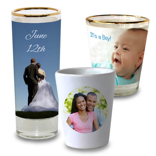 Celebrate a party or an event with a custom shot glass making a great commemorative gift